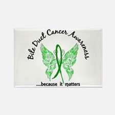 Bile Duct Cancer Butterfly 6.1 Rectangle Magnet
