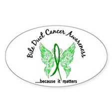 Bile Duct Cancer Butterfly 6.1 Decal