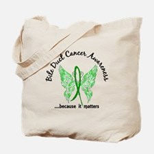 Bile Duct Cancer Butterfly 6.1 Tote Bag
