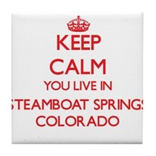 Keep calm you live in Steamboat Sprin Tile Coaster