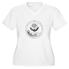 Renaissance Symbol alchemy Bat Plus Size T-Shirt