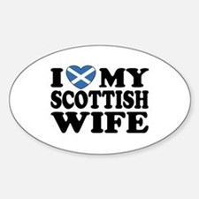 I Love My Scottish Wife Oval Decal