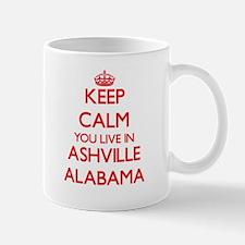 Keep calm you live in Ashville Alabama Mugs