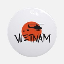 VIETNAM HELICOPTERS Ornament (Round)