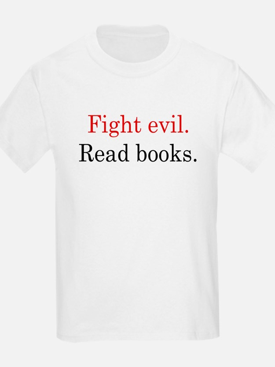 fightevilreadwhitebgrnd png T-Shirt
