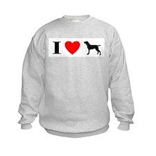 I Heart Bracco Italiano Sweatshirt