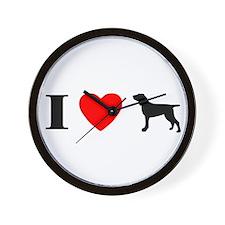 I Heart Bracco Italiano Wall Clock