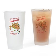 WONDERFUL TIME OF THE YEAR Drinking Glass