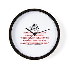 HUNTER S. THOMPSON QUOTE (ORIG) Wall Clock
