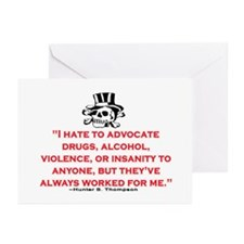 HUNTER S. THOMPSON QUOTE (ORIG) Greeting Cards (Pk