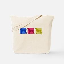 Color Row Bracco Italiano Tote Bag