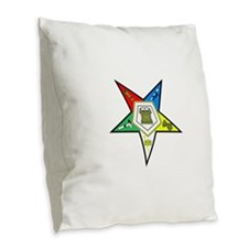 Oreder of the Easter Star Burlap Throw Pillow