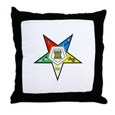 Oreder of the Easter Star Throw Pillow
