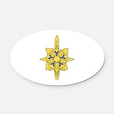 MILITARY INTELLIGENCE Oval Car Magnet