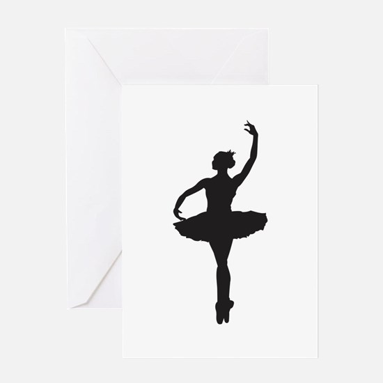 BALLERINA SILHOUETTE Greeting Cards