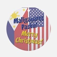 Maligayang Pasko Ornament (Round)
