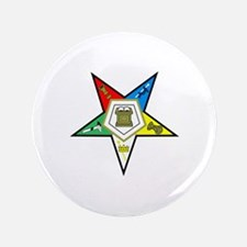 """ORDER OF THE EASTERN STAR 3.5"""" Button"""