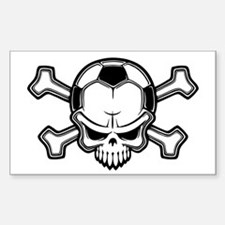 Soccer Pirate II Rectangle Decal