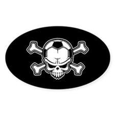 Soccer Pirate II Oval Decal