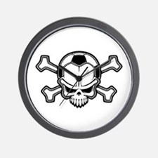 Soccer Pirate II Wall Clock
