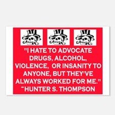 HUNTER S. THOMPSON QUOTE Postcards (Package of 8)