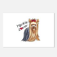 YORKIE LOVER Postcards (Package of 8)