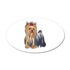 YORKSHIRE TERRIERS Wall Decal
