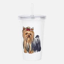 YORKSHIRE TERRIERS Acrylic Double-wall Tumbler
