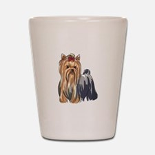 YORKSHIRE TERRIERS Shot Glass