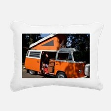 bus Rectangular Canvas Pillow