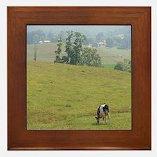 Mountain Farm Pasture Framed Tile
