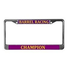 Barrel Racing Champ License Plate Frame
