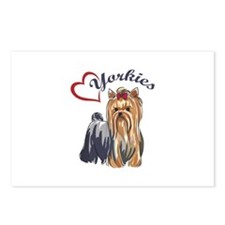 I LOVE YORKIES Postcards (Package of 8)