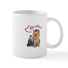 I LOVE YORKIES Mugs