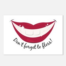 Don't Forget To Floss! Postcards (Package of 8)