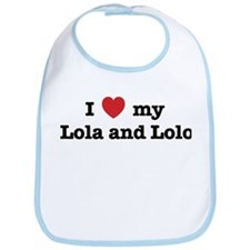 I Love my Lola and Lolo Bib