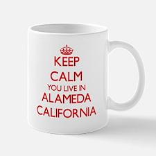 Keep calm you live in Alameda California Mugs