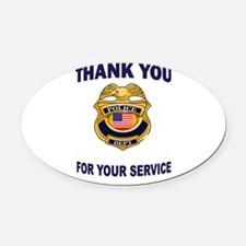 THANK YOU Oval Car Magnet