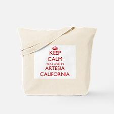 Keep calm you live in Artesia California Tote Bag
