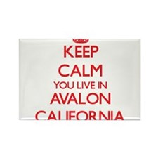 Keep calm you live in Avalon California Magnets