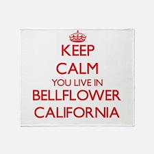 Keep calm you live in Bellflower Cal Throw Blanket