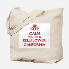 Keep calm you live in Bellflower Californ Tote Bag