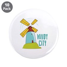 "Windmill Windy City 3.5"" Button (10 pack)"