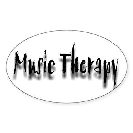 Music Therapy Oval Sticker