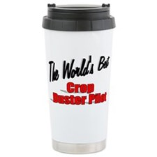 Cute Crop duster pilot Travel Mug