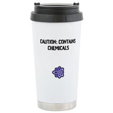 """Caution: Contains Travel Mug"