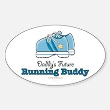 Daddy's Running Buddy Shoe Oval Decal