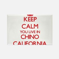 Keep calm you live in Chino California Magnets