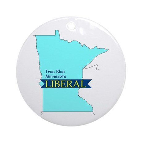 True Blue Minnesota LIBERAL Ornament (Round)