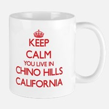 Keep calm you live in Chino Hills California Mugs